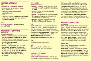 Programme de l'assemblée générale du SPH à Toulouse 2017