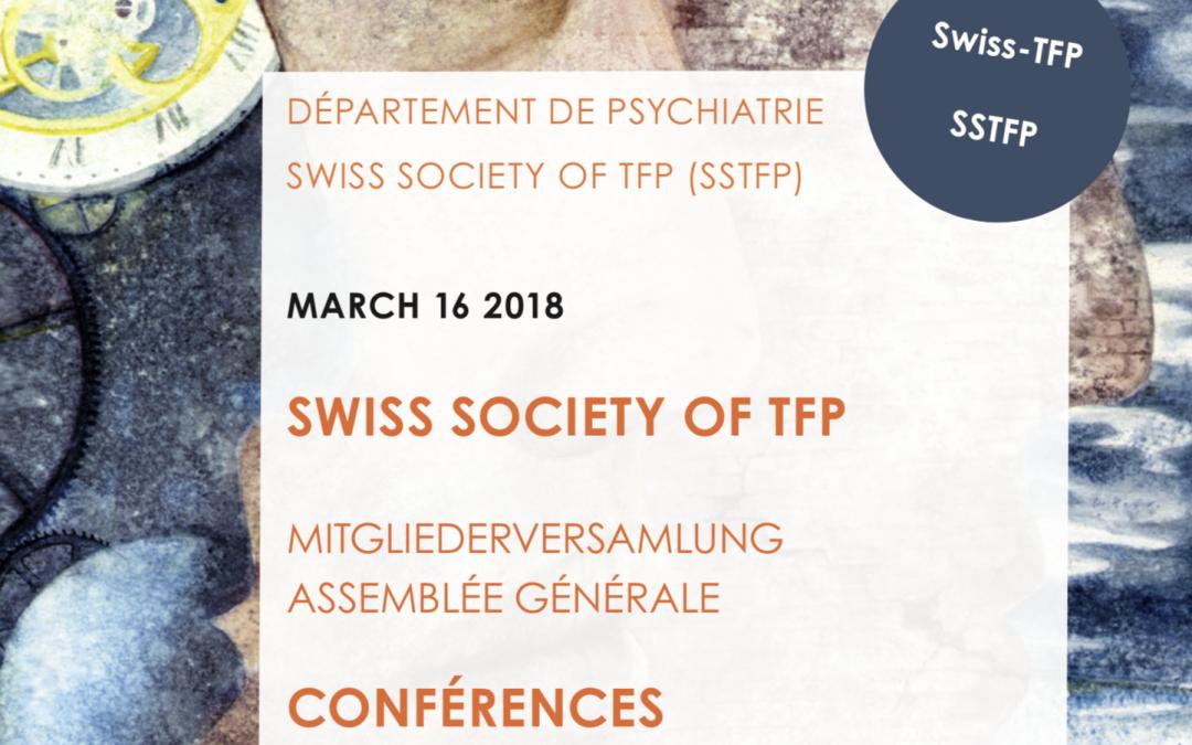 Formation 2018-2019 Psychothérapie Focalisée sur le Transfert (PFT) à Lausanne