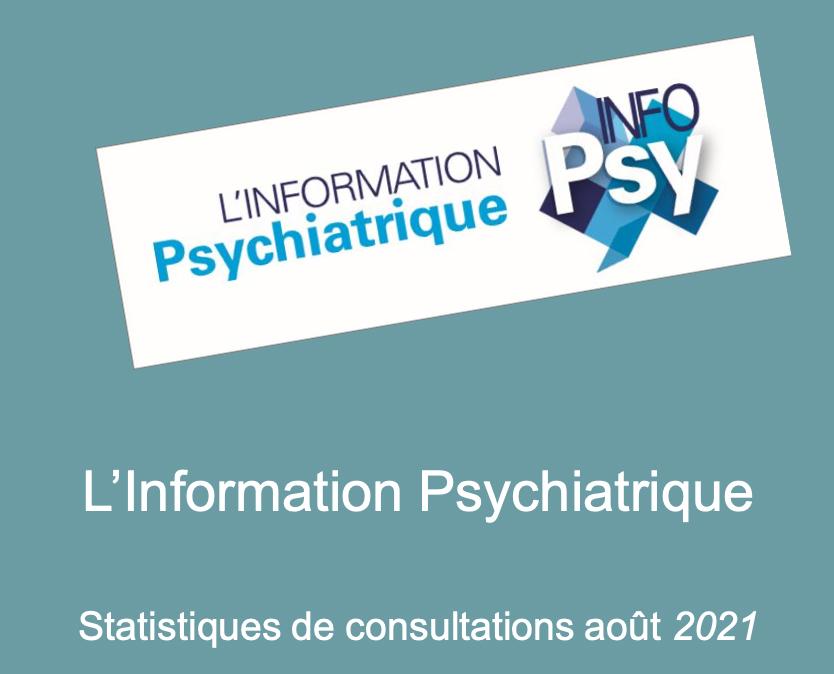 L'INFO PSY,   les statistiques de consultations (août 2021)